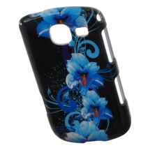 Solid Shield for Samsung Freeform 4 R390 (Blue Flowers) (Closeout)