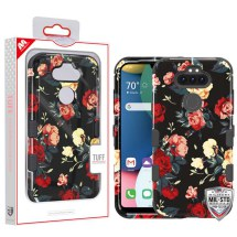 MYBAT TUFF Hybrid Case for LG K8x (2020) & Aristo 5 (Red Roses & Black)