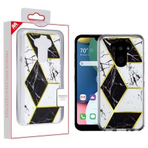 MYBAT Electroplated Case for LG K8x (2020) & Aristo 5 (Black Marble) (Closeout)