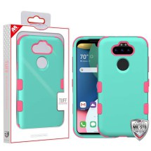 MYBAT TUFF Hybrid Case for LG K8x (2020) & Aristo 5 (Teal & Pink)