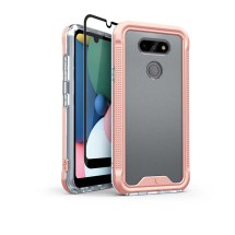 Zizo Ion Case for LG K8x (2020) & Aristo 5 (Rose Gold & Clear)