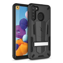 Zizo Transformer Hybrid Case with Stand for Samsung Galaxy A21 (Black)