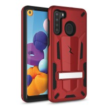 Zizo Transformer Hybrid Case with Stand for Samsung Galaxy A21 (Red & Black)