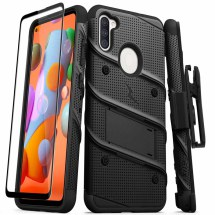 Zizo Bolt Case with Stand for Samsung Galaxy A11 (Black)