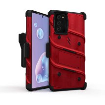 Zizo Bolt Case with Stand for Samsung Galaxy Note 20 (Red & Black)