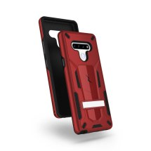 Zizo Transformer Hybrid Case with Stand for LG Stylo 6 (Red & Black)