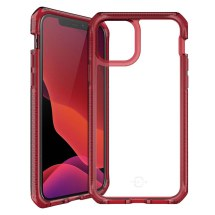 ITSKINS Supreme Clear Case for Apple iPhone 12 Mini (Red & Clear)