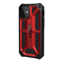 UAG Monarch Case for Apple iPhone 12 Mini (Crimson & Black)