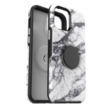 OtterBox + PopSocket Symmetry Case for Apple iPhone 12 Pro Max (White Marble)