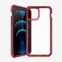 ITSKINS Supreme Clear Case for Apple iPhone 12 & 12 Pro (Red & Clear)