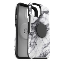 OtterBox + PopSocket Symmetry Case for Apple iPhone 12 & 12 Pro (White Marble)