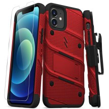 Zizo Bolt Case with Stand for Apple iPhone 12 & 12 Pro (Red & Black)