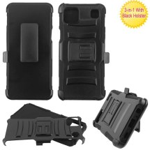 MYBAT Advanced Armor Case with Holster & Stand for LG K92 5G (Black) (Closeout)