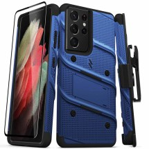 Zizo Bolt Case with Stand for Samsung Galaxy S21 Ultra (Blue & Black)