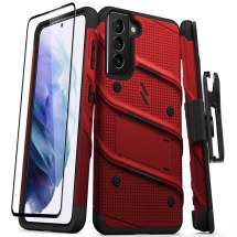 Zizo Bolt Case for Samsung Galaxy S21 (Red & Black)