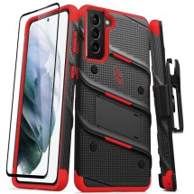 Zizo Bolt Case for Samsung Galaxy S21+ (Black & Red)