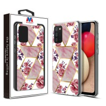 MYBAT Electroplated Hybrid Case for Samsung Galaxy A02s (Rose Marble)