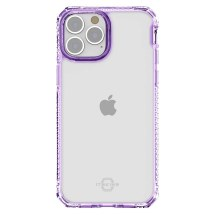 ITSKINS Clear Hybrid Case for Apple iPhone 13 Pro Max (Light Purple & Clear)