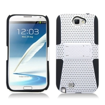 Hybrid Mesh Case with Stand for Samsung N7100 Note 2 (White & Black) (Closeout)