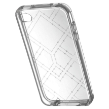 TPU Case for Apple iPhone 4 & 4S (Clear Maze) (Closeout)