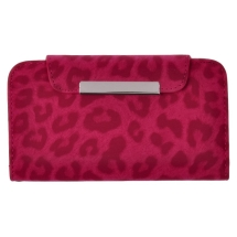 Wallet Pouch for Samsung Galaxy S4 (Hot Pink Leopard) (Closeout)