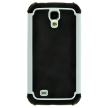 Textured Hybrid Case for Samsung Galaxy S4 (Black & White) (Closeout)