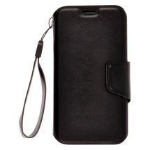Deluxe Wallet Pouch with Strap for Motorola Moto X XT1055 & XT1060 (Black) (Closeout)