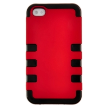 TUFF Hybrid Case for Apple iPhone 4, 4S (Red) (Closeout)
