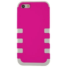 MYBAT TUFF Hybrid Case for Apple iPhone 5, 5S, & SE (1st Gen) (Light Pink & White) (Closeout)