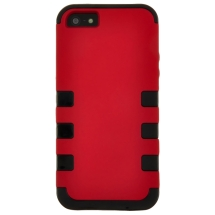 MYBAT TUFF Hybrid Case for Apple iPhone 5 & 5S (Red & Black) (Closeout)