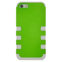 MYBAT TUFF Hybrid Case for Apple iPhone 5, 5S, & SE (1st Gen) (Neon Green & White) (Closeout)
