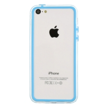 Protective Bumper for Apple iPhone 5C LIte (Baby Blue & Transparent Clear) (Closeout)