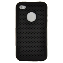 Hybrid Mesh Case for Apple iPhone 4,4S (Black) (Closeout)