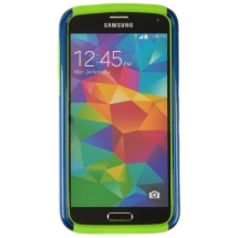 Hybrid 2 Tone Case for Samsung Galaxy S5 (Blue & Green) (Closeout)