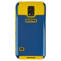 Hybrid 2 Tone Case for Samsung Galaxy S5 (Navy Blue & Yellow) (Closeout)