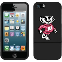 Licensed Slider Case NCAA Wisconsin Badgers for Apple iPhone 5/5S (Mascot) (Closeout)