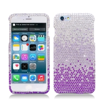 Hard Shield Case for Apple iPhone 6 Plus & 6S Plus (Purple Crystal Waterfall) (Closeout)
