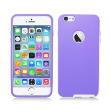 Candy Skin with Bumper for Apple iPhone 6 Plus & 6S Plus (Light Purple & White) (Closeout)