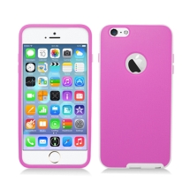 Candy Skin with Bumper for Apple iPhone 6 Plus & 6S Plus (Hot Pink & White) (Closeout)