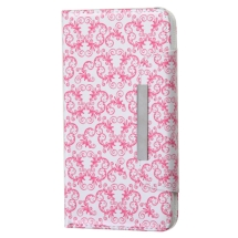 Wallet Pouch for LG G3 (Pink Butterfly Flowers) (Closeout)