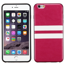 Candy Skin Leather for Apple iPhone 6 Plus & 6S Plus (Hot Pink & White) (Closeout)
