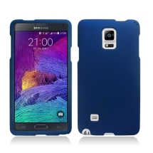 Rubberized Shield for Samsung Galaxy Note 4 (Blue) (Closeout)