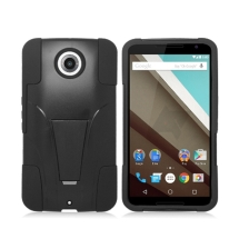 Hybrid Case with Stand for Motorola Nexus 6 (Black) (Closeout)