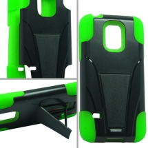 Hybrid Case with Stand for Samsung Galaxy S5 Mini (Green) (Closeout)
