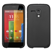 Asmyna Advanced Armor Case for Motorola Moto G (Black) (Closeout)