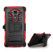 Hybrid Case with Stand for LG G Flex 2 (Black & Red) (Closeout)