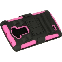 Hybrid Rippled Case with H Stand and Holster for LG G Flex 2 (Hot Pink) (Closeout)