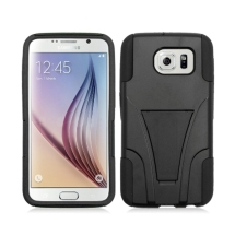 Hybrid Case with Stand for Samsung Galaxy S6 (Black) (Closeout)