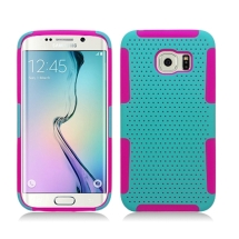 Hybrid Mesh Case for Samsung Galaxy S6 (Teal & Hot Pink) (Closeout)