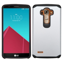 Advanced Armor Case for LG G4 (Silver & Black) (Closeout)